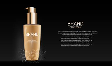 Fashion Design Makeup Cosmetics Product Template for Ads or Magazine Background. Mascara Product Series Reports 3D Realistic Vector illustration. EPS10. 스톡 콘텐츠 - 95861054