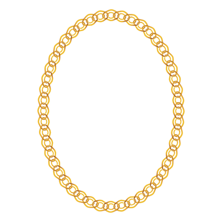 Gold Chain Jewelry on White Background. Vector Illustration. Illustration