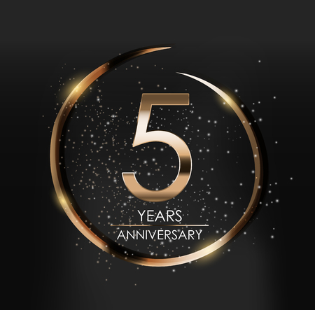 Template Logo 5 Years Anniversary Vector Illustration