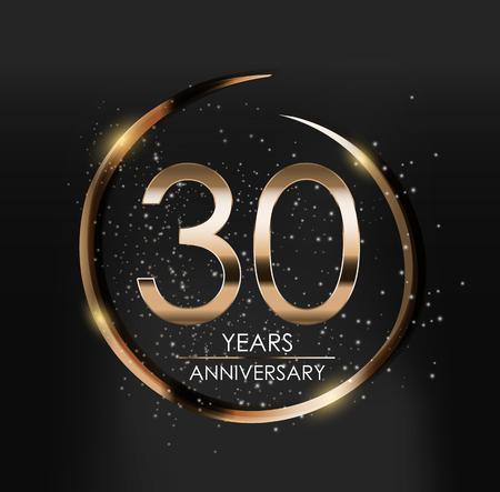 Template Logo 30 Years Anniversary Vector Illustration  イラスト・ベクター素材