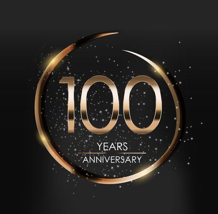 Template Logo 100 Years Anniversary Vector Illustration