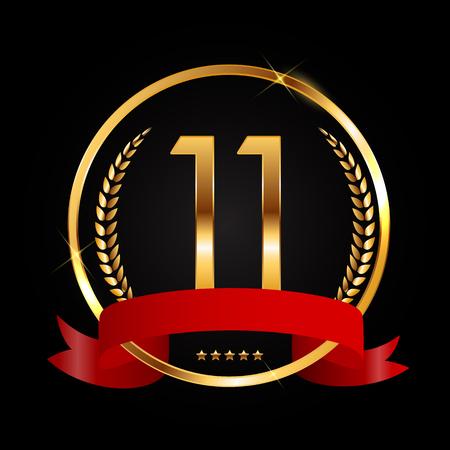 Template Logo 11 Years Anniversary Vector Illustration