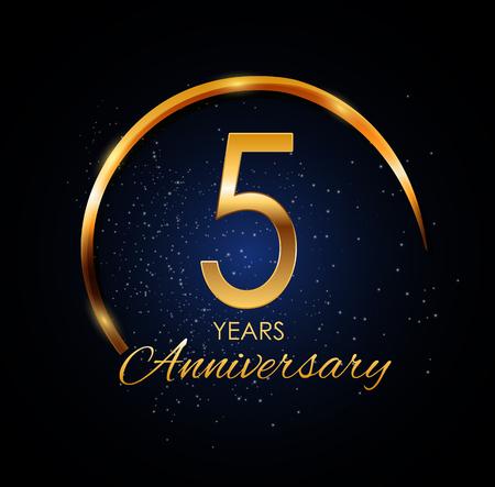 Template Logo 5 Year Anniversary Vector Illustration Illustration
