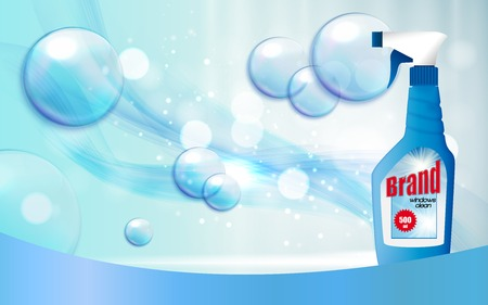 Window Cleaner Bottle Template for Ads vector illustration Ilustrace