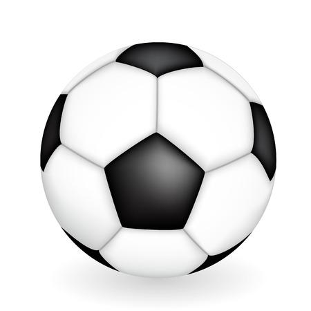 Naturalistic 3D kind of soccer ball. Vector Illustration