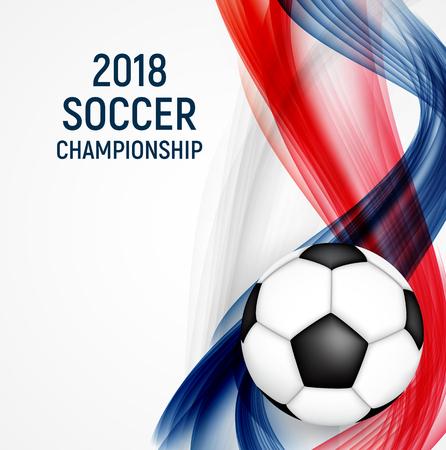 2018 Soccer Championship Background Vector Illustration