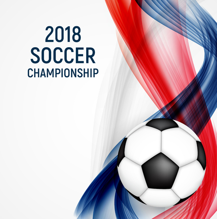 2018 Soccer Championship Background Vector Illustration