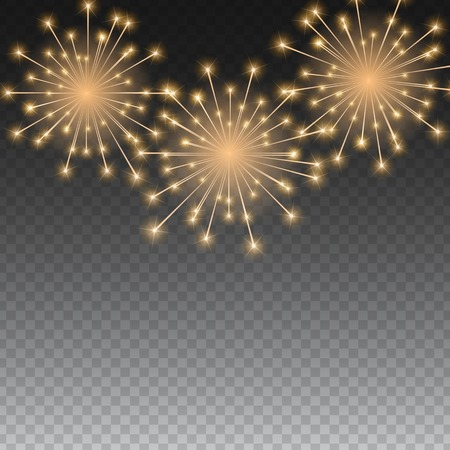 Glossy Fireworks Background Vector Illustration EPS10 Illustration