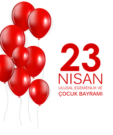 23 nisan cocuk baryrami. Translation: Turkish April 23 Childrens Day Vector Illustration