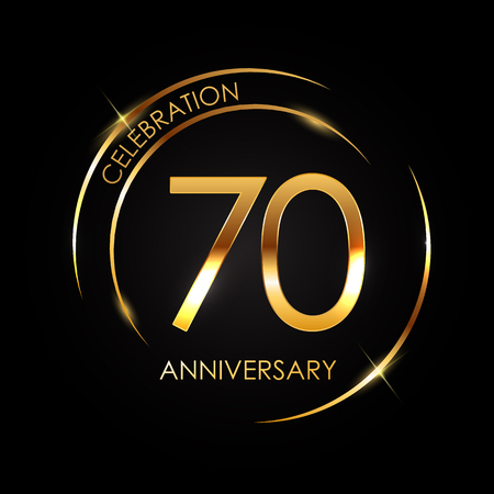 Template 70 Years Anniversary Vector Illustration 写真素材 - 99334751