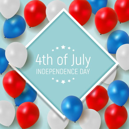 Fourth of July, Independence day of the United States. Happy Birthday America. Vector Illustration