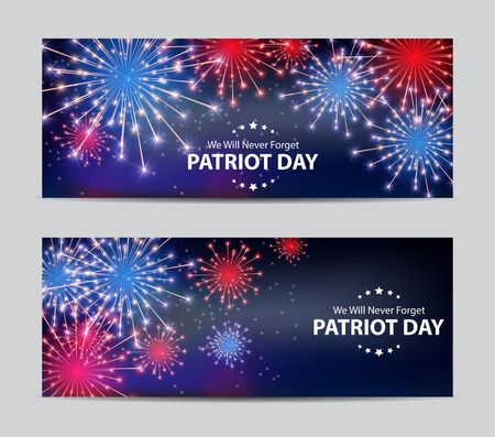 Patriot Day Background. September 11 Poster. We will never forget. Vector Illustration EPS10