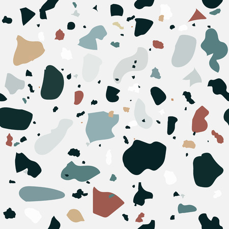 Naturalistic marble floor, with the addition of granite, quartz, glass, calcite, dolomite. Seamless pattern. Vector Illustration. EPS10