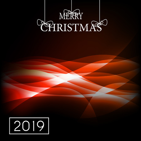 2019 Happy New Year and Marry Christmas Background. Vector Illustration. EPS10 Banque d'images - 109646729
