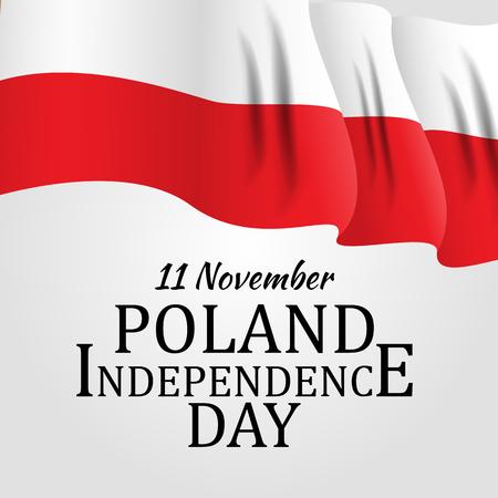 11 listopada, Polska Dzień Niepodległości Patriotyczne symboliczne tło ilustracja wektorowa