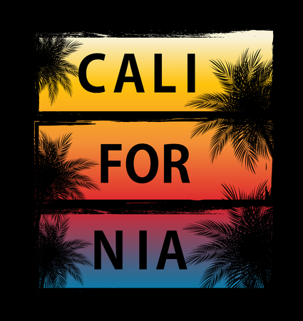 Abstrat California Palm Background Vector Illustration EPS10 向量圖像