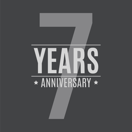 Template Logo 7 Years Anniversary Vector Illustration EPS10
