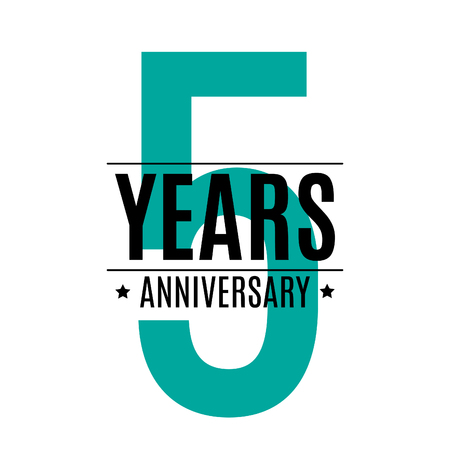Template Logo 5 Years Anniversary Vector Illustration EPS10