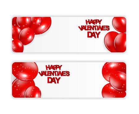 Happy Valentines Day Card. Vector Illustration EPS10 Ilustração