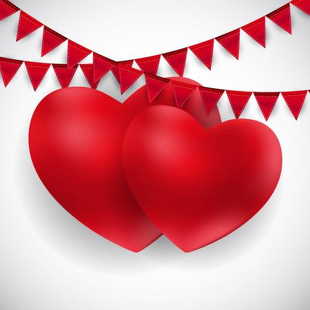 Happy Valentines Day Card. Vector Illustration EPS10 Banco de Imagens - 114432882