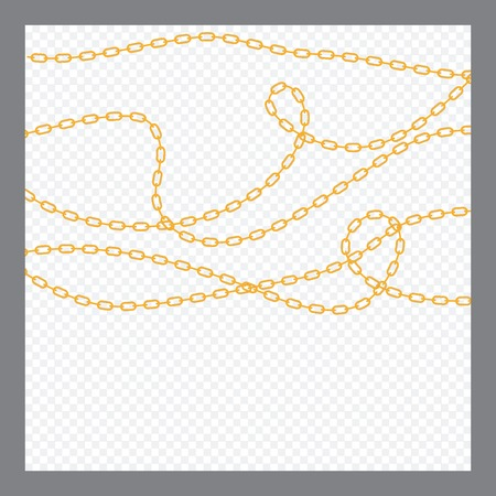 Abstract Golden or Bronze Color Chain Decorative element. Vector illustration. EPS10