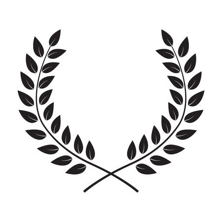 Award Laurel Wreath. Winner Leaf label,  Symbol of Victory. Vector Illustration Illustration