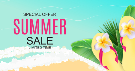 Summer Sale concept Background. Vector Illustration EPS10