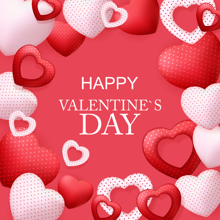 Happy Valentines Day Card with Heart. Vector Illustration Banque d'images - 116979910
