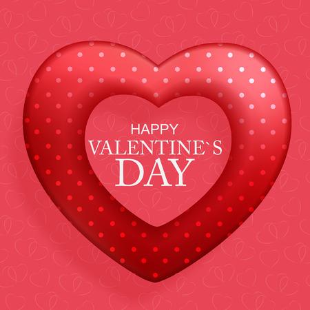 Happy Valentinstag-Karte mit Herz. Vektor-Illustration eps10 Vektorgrafik