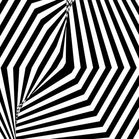 Image abstraite fascinante hypnotique. Illustration vectorielle. EPS10
