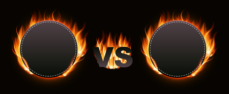 Versus Screen with Fire Vector Illustration Banque d'images - 116695740