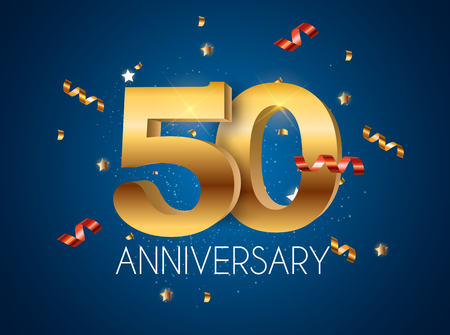 Template  50 Years Anniversary Vector Illustration