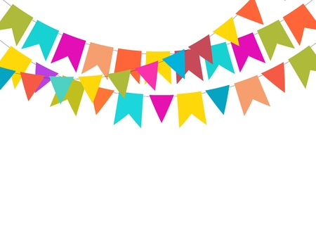 Party Background with Flags Vector Illustration. Vektoros illusztráció