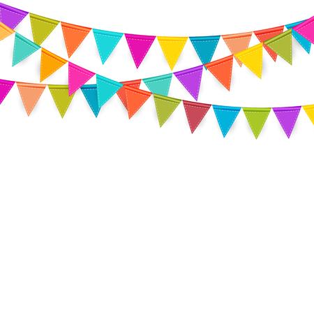 Fondo del partito con l'illustrazione di vettore delle bandiere. Vettoriali