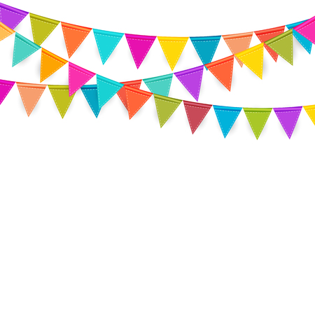 Party Background with Flags Vector Illustration. Vector Illustration