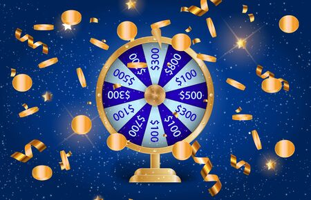 Colorful wheel of fortune. Chance of victory. Vector Illustration. EPS10