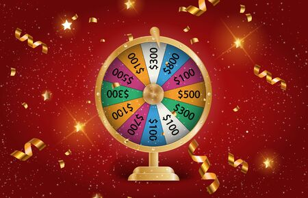 Colorful roulette wheel Chance of victory. Fortune concept. Vector Illustration. EPS10 Фото со стока - 130550519