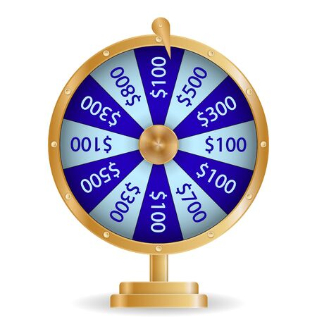 Colorful roulette wheel Chance of victory. Fortune concept. Vector Illustration. EPS10