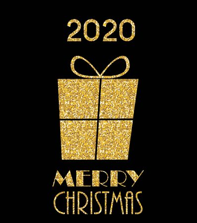 2020 New Year and Merry Christmas Background. Vector Illustration EPS10 Stock Illustratie