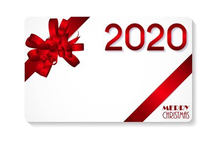 2020 Happy New Year and Merry Christmas Background. Vector Illustration. EPS10