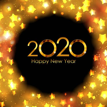 2020 New Year and Merry Christmas Background. Vector Illustration EPS10
