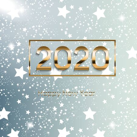 2020 New Year and Merry Christmas Background. Vector Illustration EPS10 Иллюстрация