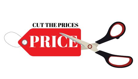 Cut prices Sale and discounts design. Vector Illustration EPS10
