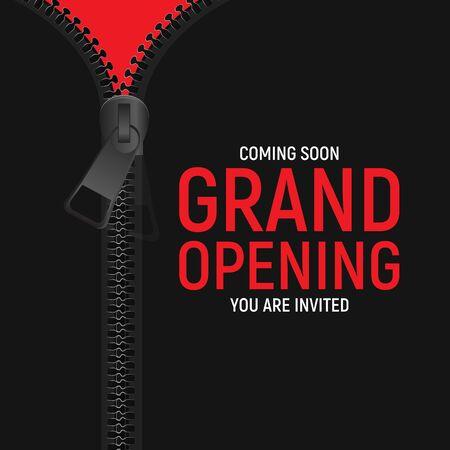 Grand opening concept. Vector Illustration. EPS10 Vecteurs