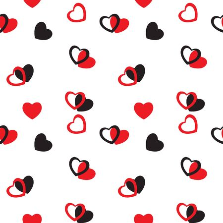 Heart love seamless pattern background. Vector illustration