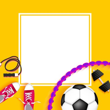 Abstract Fitness Sport Background. Vector Illustration