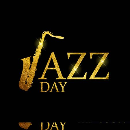 Jazz Day Background. Vector Illustration EPS10  イラスト・ベクター素材