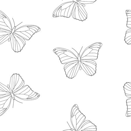 Butterfly Seamless Simple Pattern Background Vector Illustration EPS10