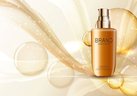 Design Cosmetics Product  Template for Ads or Magazine Background. 3D Realistic Vector Iillustration. EPS10