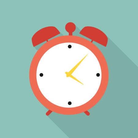 Flat Clock Alarm Watch Vector Illustration EPS10